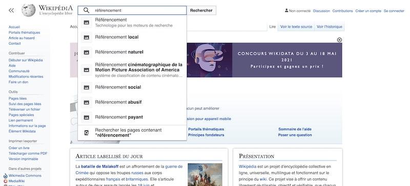 wikipedia-mots-clés