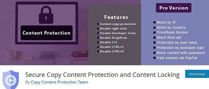 Secure Copy Content Protection and Content Locking